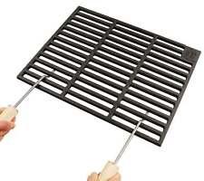 Gusseisen Grillrost 50 x 35 cm + Griffe Guss Grillclub® Grill Gasgrill Guß