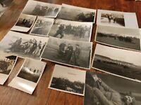 Konvolut 14 Fotos Wehrmacht FLAK Abwehr Soldaten Flakhelfer WK I II & Zeppelin