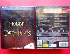 rare box set 30 disc set trilogy the hobbit the lord of the rings blu ray disc v