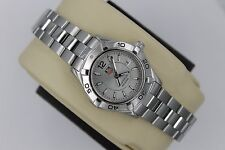 Tag Heuer WAF1412.BA0823 Silver Gray Aquaracer Watch Womens MINT CRYSTAL 300M