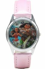 Disney's MOANA Princess Pink Genuine Leather Band WRIST WATCH