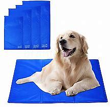 Reversible Pet Dog Cat Cooling Gel Mat Large Medium Small Size Blanket Cool New