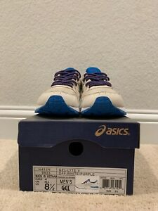 Asics Gel Lyte V Off White/Purple H415N 9933 US Men's 8.5 w/ Extra Laces