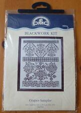 Grapes Sampler DMC Blackwork Kit K3769 New Embroidery