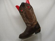 Double H Brown Leather Buckaroo Cowboy Western Boots Mens Size 8.5 M Style 30268