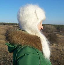 bean Hat Cashmere Mohair Angora not alpaca fluff hat Goat Fur Organic Warm  Soft