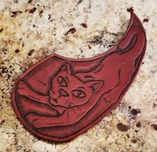Leather Acoustic Guitar Pickguard - Hand Tooled - Made In America