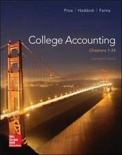 College Accounting Chapters 1-24 by Farina, Price and Haddock (2014, Hardcover)