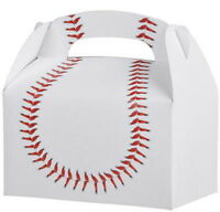12 BASEBALL  PARTY TREAT BOXES FAVORS GOODY BAG  PRIZE GIFT BASKET CARNIVAL