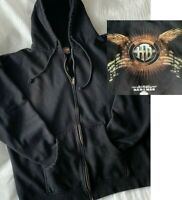 Harley Davidson Sweatshirt Hoodie Black Men XL Full Zip Wing GraphicBack Bahamas