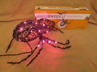 New Lighted Spooky Rattan Spider Halloween Prop Indoor or Outdoor Celebrate It