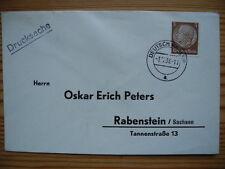 Deutsches Reich DR 1938 Drucksache von Deutsch-Kralup nach Rabenstein/Sachsen