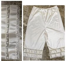 Vintage Knickers M/L Nylon Tap Pants Slip Shorts Bloomers Flowers lace