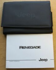 JEEP RENEGADE HANDBOOK OWNERS MANUAL WALLET 2014-2017 PACK 1609