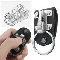Stainless Steel Quick Release Detachable Key Chain Belt Clip Ring Keyring Holder