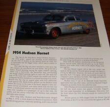★★1954 HUDSON HORNET SPECS INFO PHOTO 54 53 52 55 308 ★★