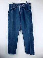 Wrangler 33x32 Jeans Men 100% Cotton Blue Denim Pants