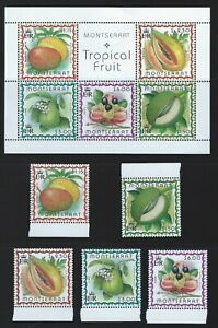 Montserrat Sc 984-88a Fruit  Mango, Breadfruit, Papaya, Lime, Akee