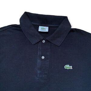 "Vintage LACOSTE Polo Shirt | Size 7 | 2XL XXL | Black Short Sleeve 52"" Chest"