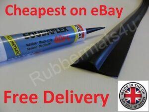 Heavy Duty 100% RUBBER Garage Door Floor Threshold Weather Draught Excluder Seal