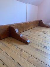 Huge Heavy Rustic Solid Wooden farmhouse Shelf mantelpiece Kitchen Vintage