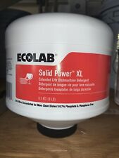 Ecolab 6100185 Solid Power XL Dish machine Detergent 9 Lb Block Free Ship 08/22