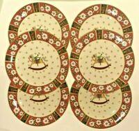 Set of 6 Classic Traditions - Charlton Hall Dessert Salad Plates Christmas Horse