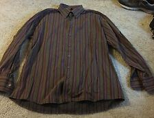 Angelo LITRICO 1XL 43/44 Dress Shirt Excellent Condition Vertical Stripes