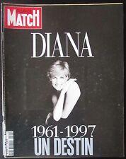 PARIS MATCH 1997  NUMERO SPECIAL ALBUM PHOTOS LADY DIANA 1961 - 1997 UN DESTIN