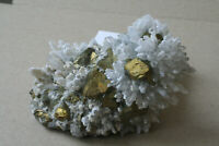 Quarz+Chalkopyrit+Calcit-Stufe Rum. M-1420/M