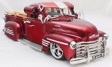 JADA LOWRIDER 1951 CHEVY PICK UP RED 1/24 DIECAST CARS NEW IN BOX RARE ITEM