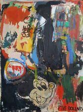 """Trés bonne peinture contemporaine  école Pop """"Mickey"""""""