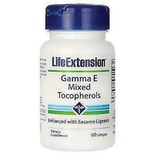 Expiration date 08/2021-Life Extension Gamma E Mixed Tocopherols, 60 softgels