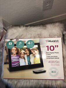 "Aluratek 10"" Slim Digital Photo Frame  8gb Built In Memory"