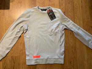 Under Armour UA Trek Polartec Fleece Crew Sweatshirt Men's M $75 1355098-110 NWT