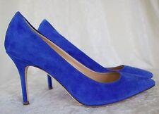JCrew Elsie Suede Pumps $245 Size 6.5 a4969 Blue Heel