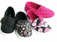 Cute Adorable Baby Toddlers Girls Canvas Slip On Shoes Loafers  Size 4-9