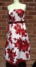 Debut Size 8 Strapless Wine Red Knee Length Frock Prom/party Dress