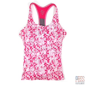 Nike Dri-Fit Womens M Sleeveless Tank Support Polyester Compression Camo Pink
