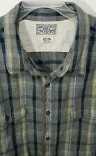LUCKY Brand Mens Button Front Medium Wt. Flannel Shirt Size XXL in Heather Grey