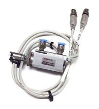SMC CDJP2B10-10D PNEUMATIC CYLINDER W/ (2) SMC D-M9P REED SWITCHES
