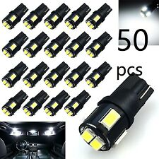 50x T10 194 168 158 2825 W5W White LED Interior License Marker Dome Trunk Lights