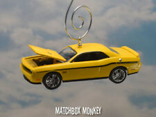 Yellow 2012 Dodge Challenger SRT 392 Custom Christmas Ornament  Adorno Muscle