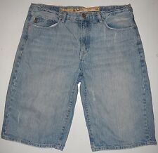 Mens 38 Pepe Jeans Broken In Washed Out Blue Jean Denim Shorts