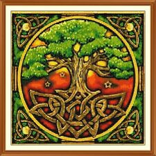 Celtic Tree-of-Life Cross Stitch Chart 12.0 x 12.0 Inches