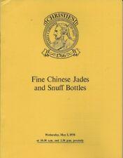 CHRISTIE'S CHINESE JADES SNUFF BOTTLES Catalog 1978