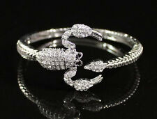 SCORPION CLEAR AUSTRIAN RHINESTONE CRYSTAL BRACELET BANGLE CUFF ANIMEL B1598S