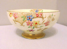 "EB FOLEY CHINA FLORALS AND LATTICE SMALL FOOTED BOWL 2 5/8"" TALL PATTERN V2170"