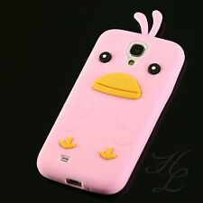 Samsung Galaxy S4 Silikon Case Schutz Hülle Handy Schale Chicken Etui Rosa
