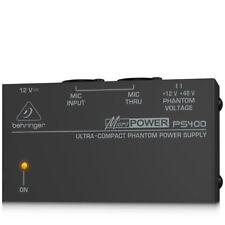 Behringer Phantom Power Supply 48V Microphone PS400 Micropower Portable Studio